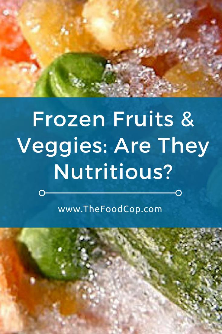 frozen fruit   frozen vegetables   The Food Cop