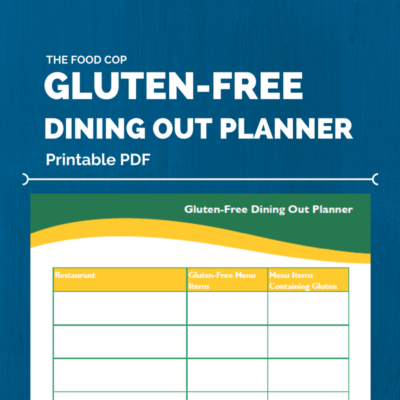 The Food Cop Gluten-Free Dining Out Planner