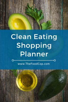 Clean Eating Shopping Planner