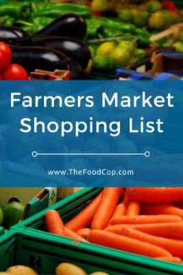 Farmers Market Shopping List