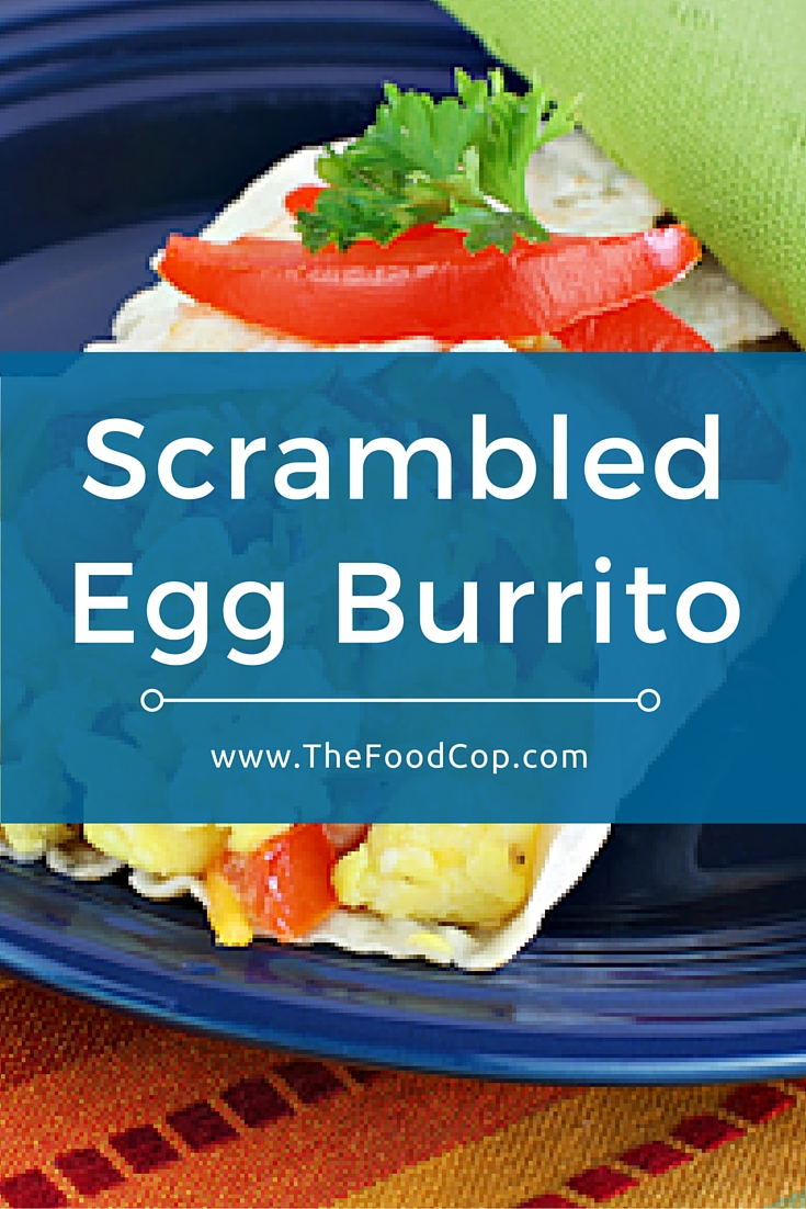 This scrambled egg burrito is healthy & simple to make. Wrap it up in tin foil to take it on the go. Click to get the recipe.