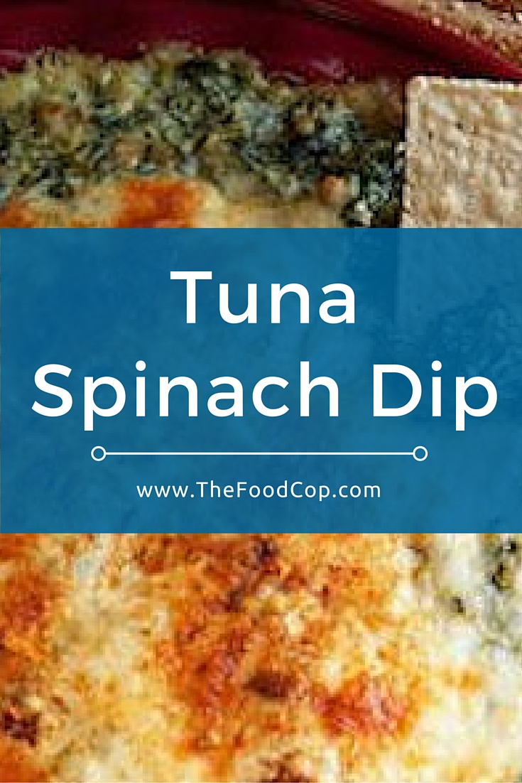 This tuna spinach dip tastes great when served warm & contains only a few ingredients. Click to get the recipe.