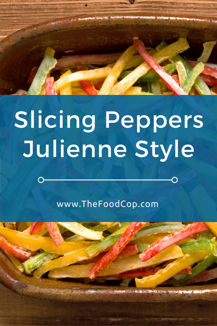 Learn how easy it is to slice peppers julienne style without making a mess with the seeds. Click to read through.