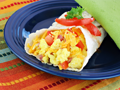 scrambled egg burrito