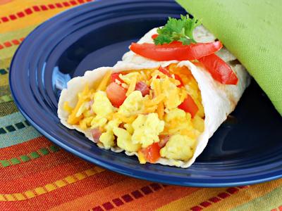 scrambled egg burrito